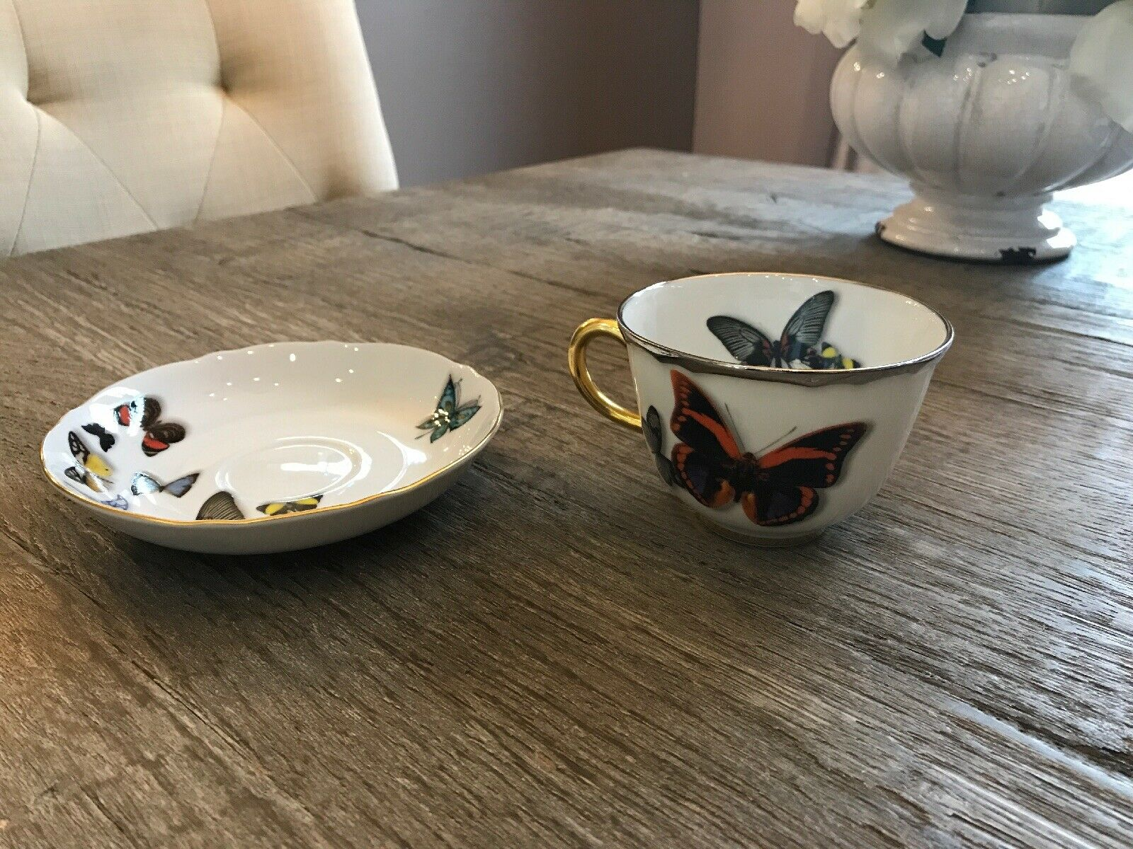 Christian Lacroix by Vista Alegra Butterfly Parade TEA TEA TEA CUP And SAUCER Set NEW d66a40