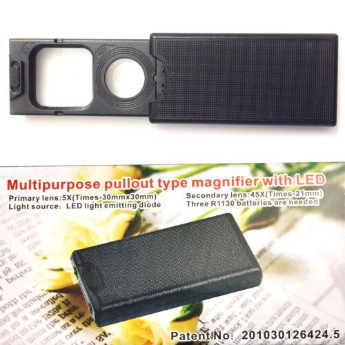 NUOVO LED MULTIUSO estrazione tipo lente d'ingrandimento lente ingrandimento valuta rilevamento effetto
