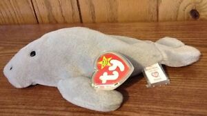 Image is loading Ty-MANNY-The-Manatee-Beanie-Baby-1995-Style- fa375773967e