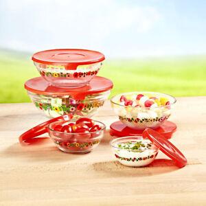 10-tlg-Glasschuessel-Set-mit-Deckel-Aufbewahrungsdosen-Frischhaltedosen-Glas