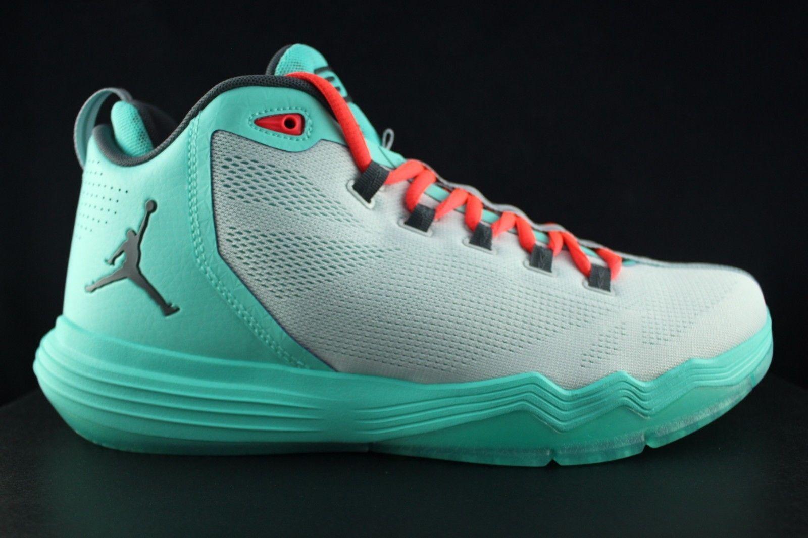 Men's Jordan CP3.IX AE Shoe!! PURE PLATINUM/DARK GREY/HYPER TURQUOISE