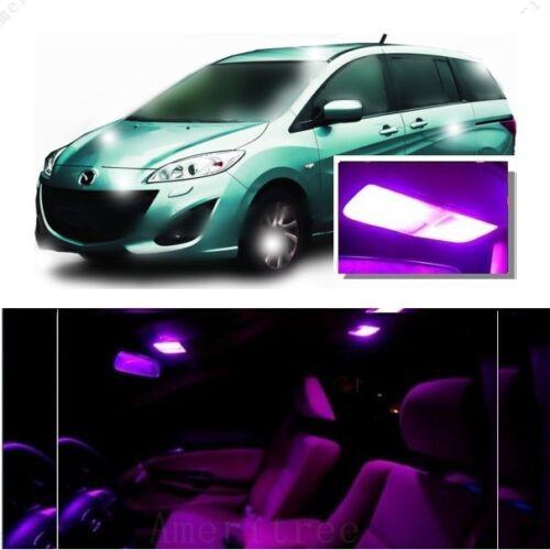 For Mazda 5 2006-2010 Pink LED Interior Kit + Pink License Light LED
