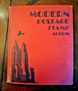 CatalinaStamps-Modern-Postage-Stamp-Album-Scott-1937-w-550-Stamps-Lot-D48