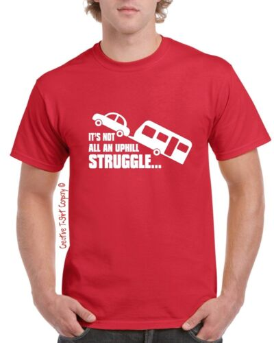 Funny Caravanning T-Shirt Sizes Small-3XL Great To Wear On Tour /& on Campsite