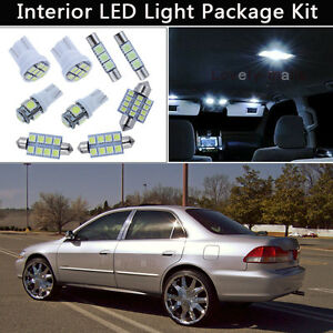 Image Is Loading 12pcs Bulbs White Led Interior Lights Package Kit