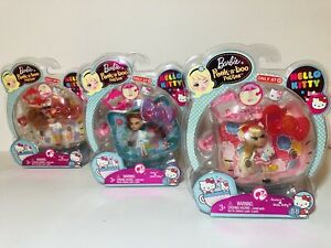 HELLO-KITTY-Barbie-Peek-a-Boo-Petites-Lot-86-87-88-RARE-by-Mattel-Sanrio-NEW