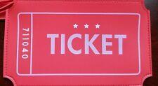 Ipsy April 2017 Sideshow Orange/red Ticket Makeup Glam Bag *clutch Only