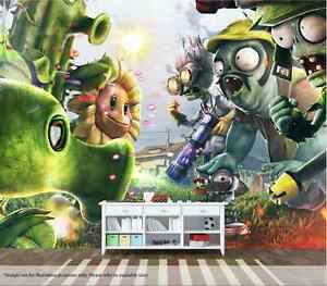Image Is Loading Plants Vs Zombies Wall Mural Wall Art Quality
