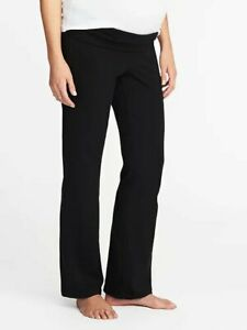 Old Navy Maternity Roll Panel Maternity Yoga Pants Size Xs Solid Black Nwt Ebay