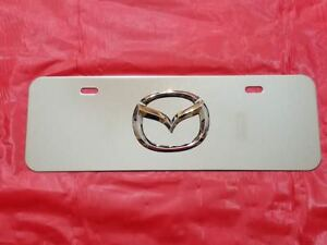 New Toyota Chrome Logo Mini Front License Plate Stainless Steel