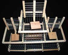 Trébuchet à 3 Trappes / Cage Récupération Oiseaux Echappés