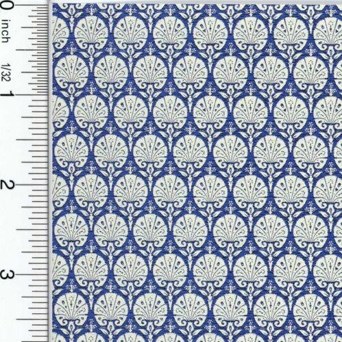 Dollhouse Wallpaper Ottoman Blue