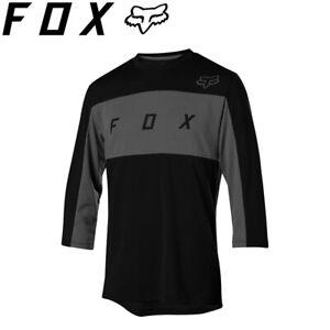 Fox Ranger DriRelease 3/4 Sleeve Jersey - Black - Size Medium