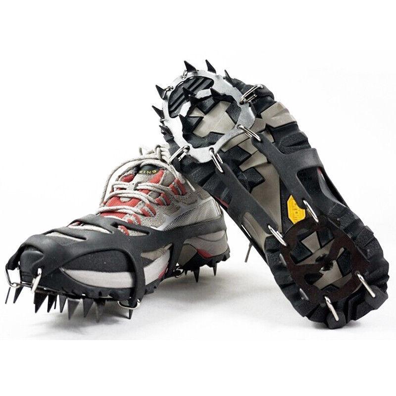 HD/_ 24 Teeth Anti-Slip Ice Snow Climbing Shoe Spike Cleats Crampons Gripper GI
