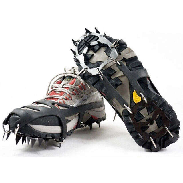 18 Teeth Crampon Anti Slip Traction Grips Ice Fishing Cleats Shoes Climbing Boot