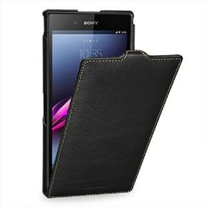 brand new 56c1a 3cee4 Details about TETDED Premium Leather Case for Sony Xperia Z Ultra XL39h  Troyes LC Black