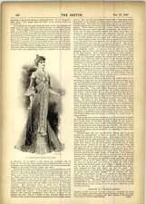 1899 vestido de terciopelo bordado simple caminando Vestido De Té
