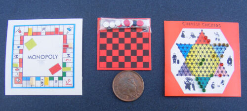 1:12 Escala Miniatura para Casa de Muñecas Juegos de Mesa Infantil Juguetes