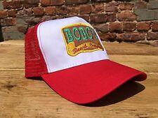 A Retro Bobos Beard Company Red Trucker Baseball Cap Hat Snapback Classic