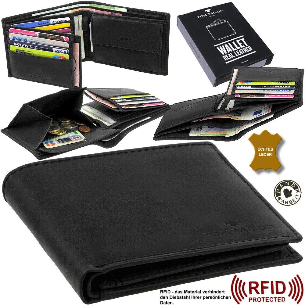 TOM TAILOR Purse Rfid Purse Men's Wallet Purse Leather