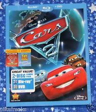 Disney Pixar Cars 2 BLU-RAY and DVD 2 Disc Combo Pack in Excellent Condition
