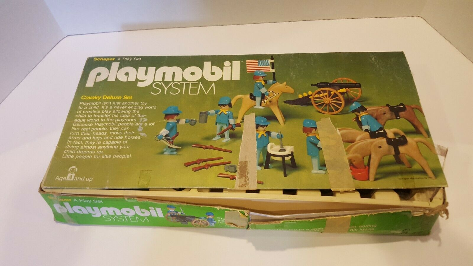 Rare Vintage Playmobil Set 060 Cavalry Deluxe Set (1977)   Incomplete
