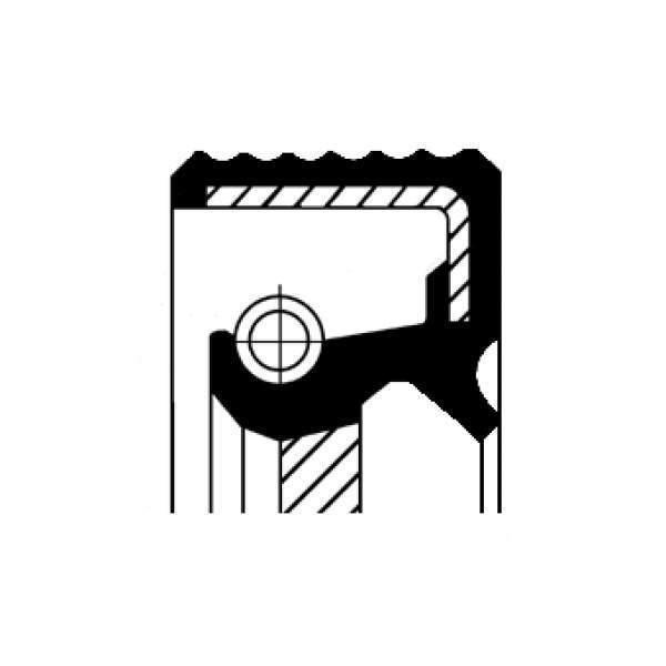 Wellendichtring, Differential  CORTECO (20018100B)