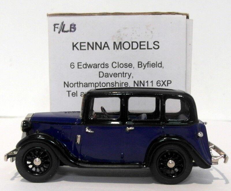 Kenna Models 1 43 Scale KM13-Wolseley 9-Dark bluee Black