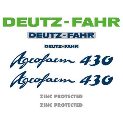 Deutz-Fahr Agrofarm 410 tractor decal aufkleber adesivo sticker set