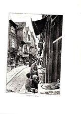 PLANCHE D APRES TABLEAU DE MIRBACH FIN 19ème LES BOUCHERIES A YORK ANGLETERRE