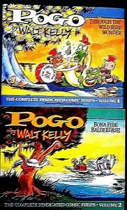 POGO-WALT-KELLY-COMPLETE-SYNDICATED-COMIC-Strips-HUGE-VOLS-1-amp-2-LIKE-NEW-COND
