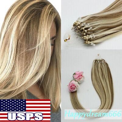 Micro ring extensions human hair