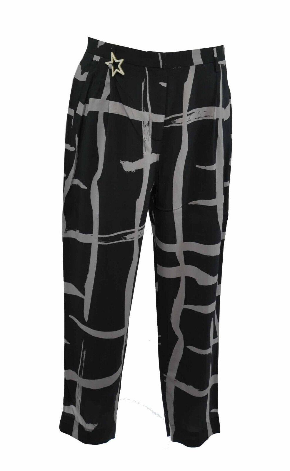 Lorena Antoniazzi  Graphite   Stone Patterned Trousers  44  Designer