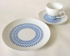 Rosenthal Romanze secunda blau Gedeck Teller Tasse / Cup + saucer Björn Wiinblad
