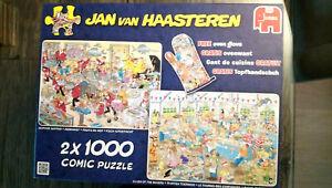 Jumbo Puzzle 2 x 1000 Teile Haasteren - Fisch aufgetischt und Backe backe Kuchen - Everswinkel, Deutschland - Jumbo Puzzle 2 x 1000 Teile Haasteren - Fisch aufgetischt und Backe backe Kuchen - Everswinkel, Deutschland