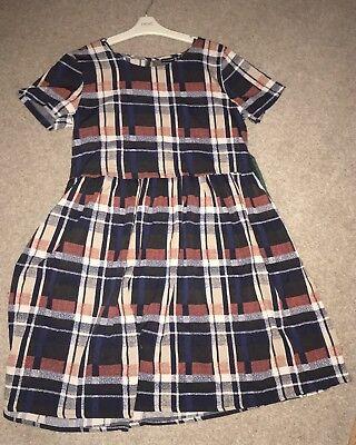 ffb896acd91 Primark Large Oversized ChecK Smock Dress Tunic Blogger Tea Grunge Boho UK10