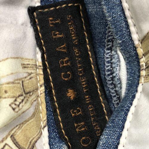 nylon e taglia Stone Nuovo Craft denim Jean Pantaloncini 27 in IfXUUw