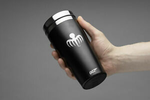 JAMES BOND THERMAL TRAVEL MUG STAINLESS STEEL OFFICIAL 007 ITEM