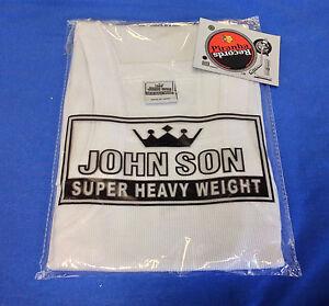 WHITE-JohnSon-Heavy-Weight-Cotton-M-G-Style-Tank-Top-Piranha-Records