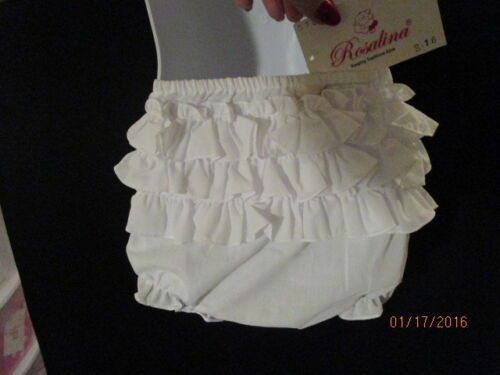 DIAPER COVERS WHITE RUFFLED POLY//COTTON BLEND ROSALINA EASTER HOLIDAYS BOUTIQUE