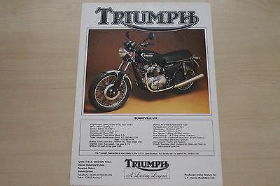 Symbol Of The Brand 165945 Triumph Bonneville Uk Prospekt 198 High Safety