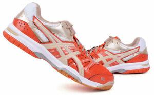 Asics gel rocket 7 Homme Badminton Chaussures Orange Indoor Chaussures Raquette B405N-3005