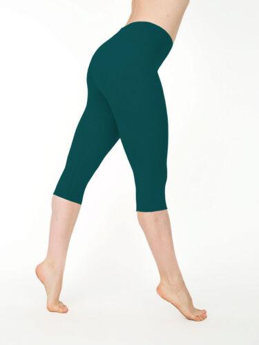 Women Stretch Cotton Capri Leggings Sports Yoga Pants Slim Gym Fitness
