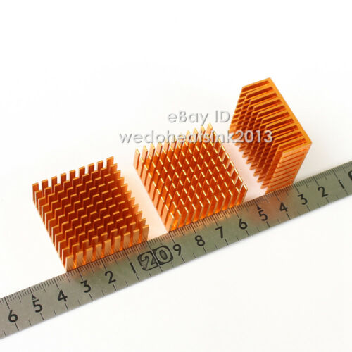 2pcs Aluminium Heatsink Cooler 35x35x14mm for 1W 3W High Power LED IC CPU
