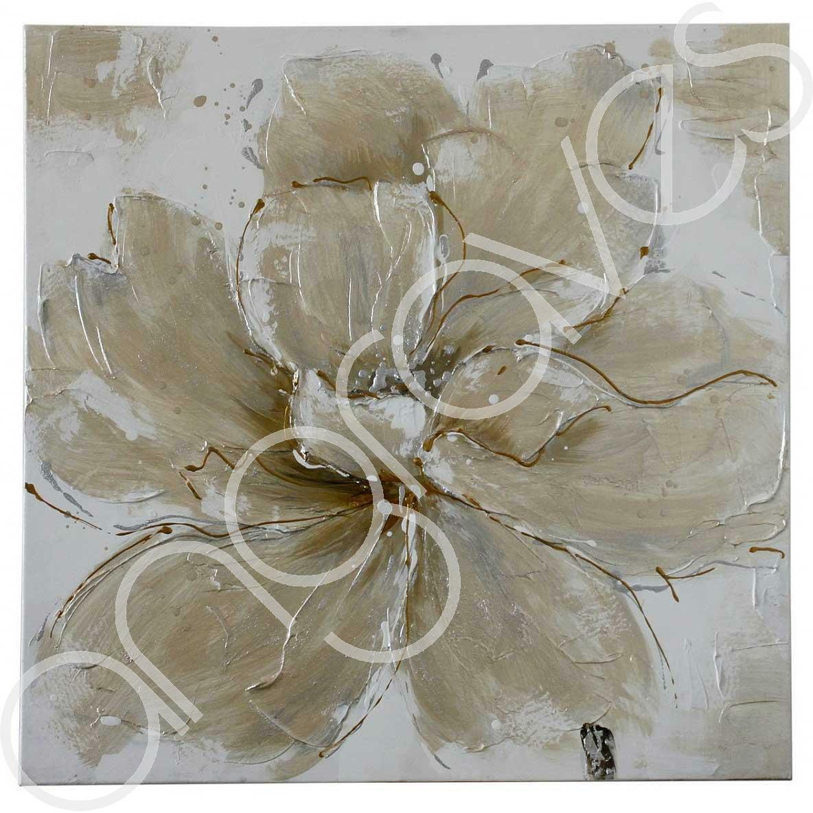 CHAMPAGNE Papaveri finito a mano in tela da appendere Wall Art Pezzo Fiore Floreale