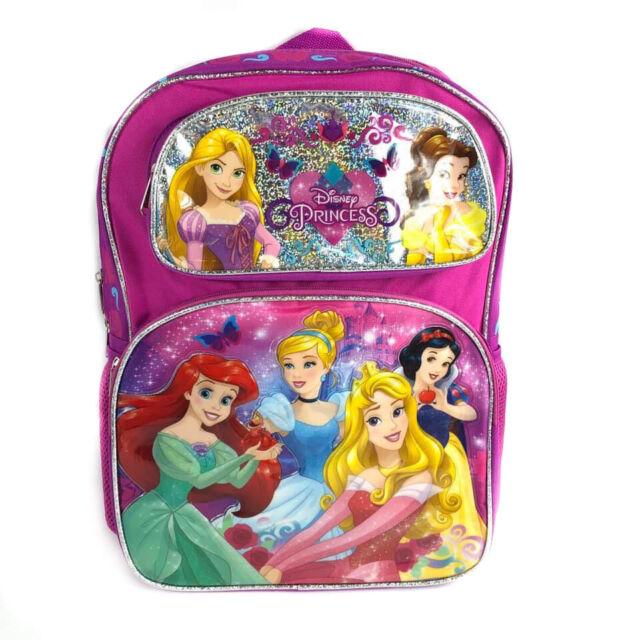 "Princess pink Large 16/"" Book Bag Backpack"