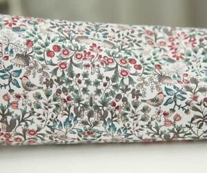 Tissu-coton-serge-imprime-fleuri-liberty-oiseaux-botanique
