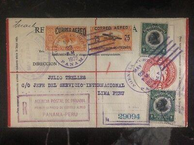 Süd- & Mittelamerika Temperamentvoll 1929 Colon Panama First Flight Abdeckung Ffc Zu Lima Peru Invertiert Überdruck Briefmarken