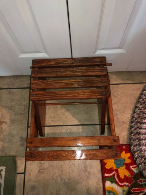 "Bed Step Stool: STEP LADDER WOOD BED Step Stool 13"" X 18"" PICK UP ONLY"