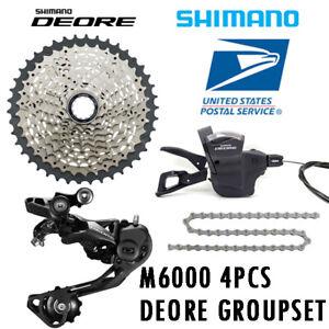 Shimano Deore M6000 Drivetrain Groupset 4pcs RD Shifters 32T//42T Cassette Chain